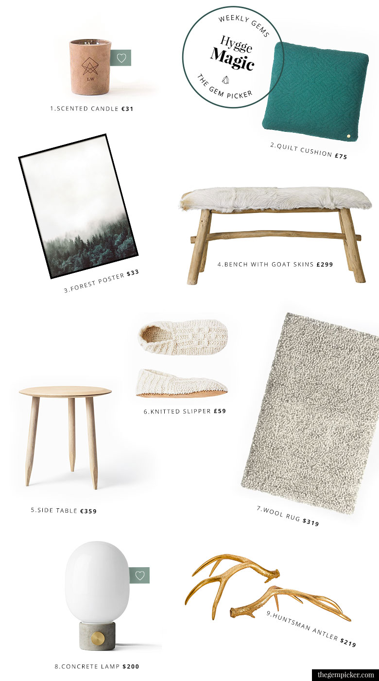 bring hygge magic into your home with the 9 items