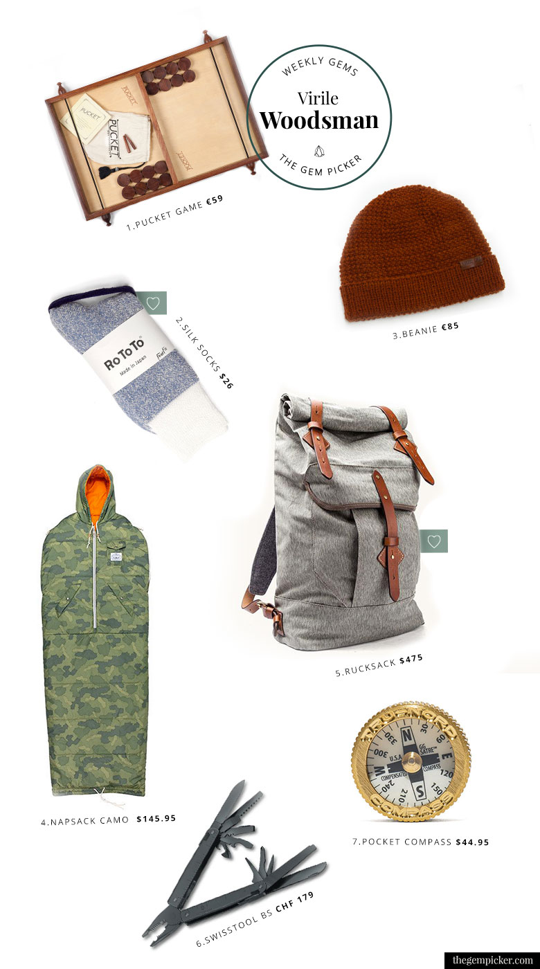 A gift guide to transform you men in a virile woodsmen this Valentine's day