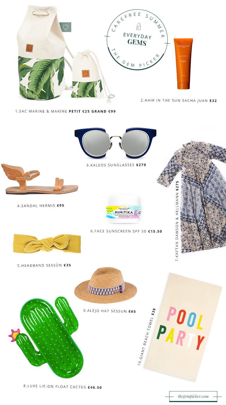 A few things you'll need fo a carefree summer