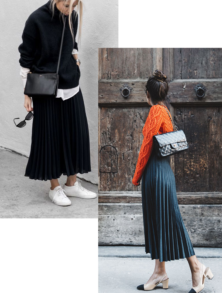 A sleek skirt or dress is one of the perfect pieces to upgrade your fall capsule wardrobe