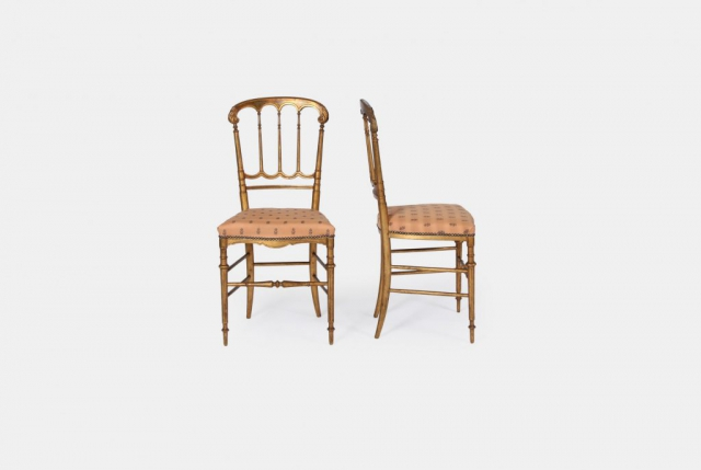 Pair of Giltwood Salon Chairs - vintage and antique furniture shop ceraudo