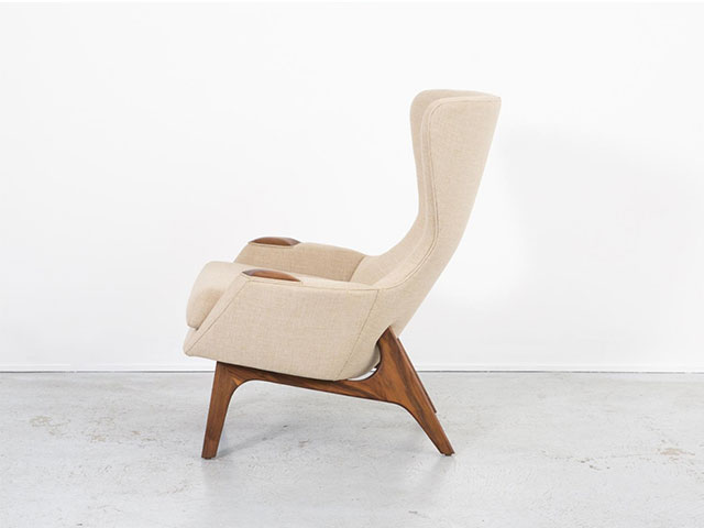 fav eshops pamono - Vintage 2231-C Wingback Chairs With Ottomans by Adrian Pearsall