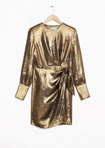 7 past trends - A shopping selection - and other stories golden dress
