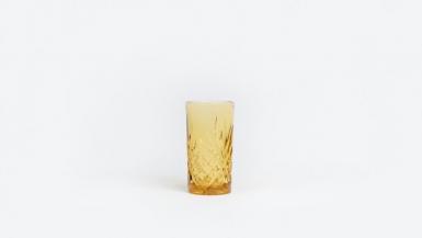 handmade decor items drinking glass amber