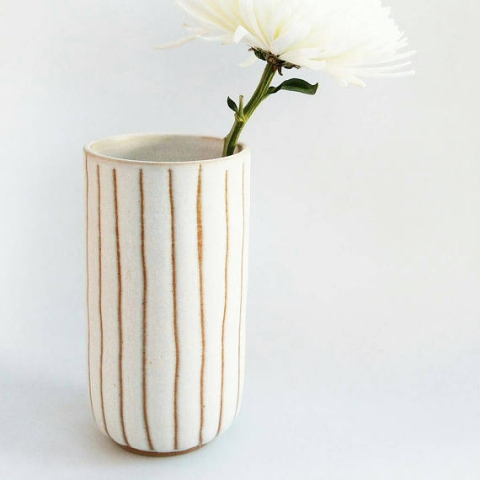 ceramic vase gold slow living the gem picker