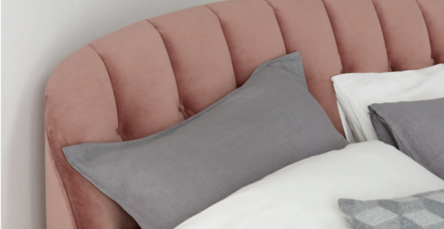 Get the look: Paris boutique hotel, Grands Boulevards - bed frame pink velvet