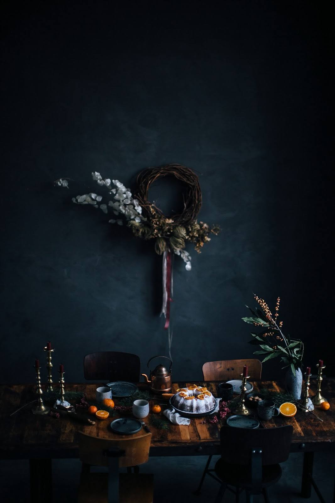 Embrace the dark, moody holiday decor