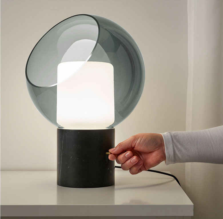 An Ikea table lamp that looks just like a designer piece