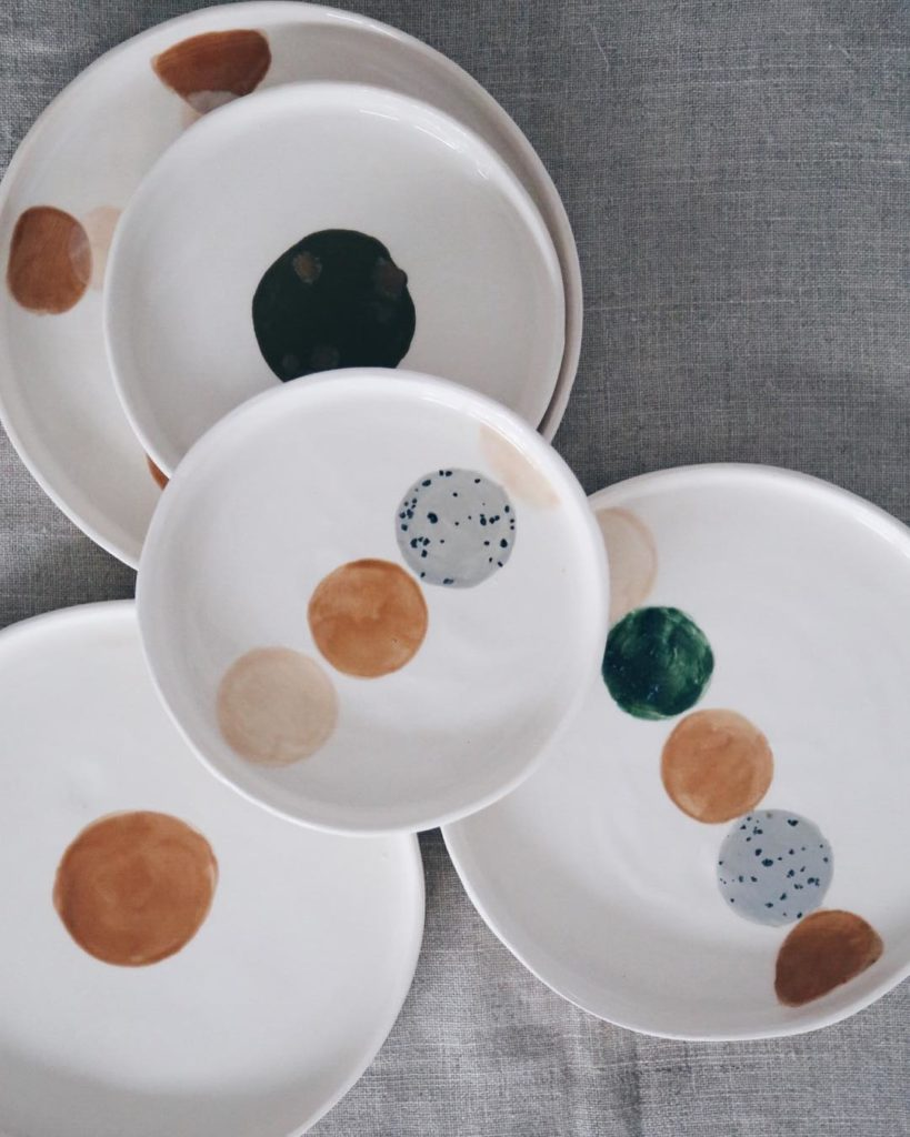 Ceramic Studio Maitoinen - plates with rounds of colors