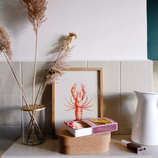 Kitchen rental remodel - radiator shelf
