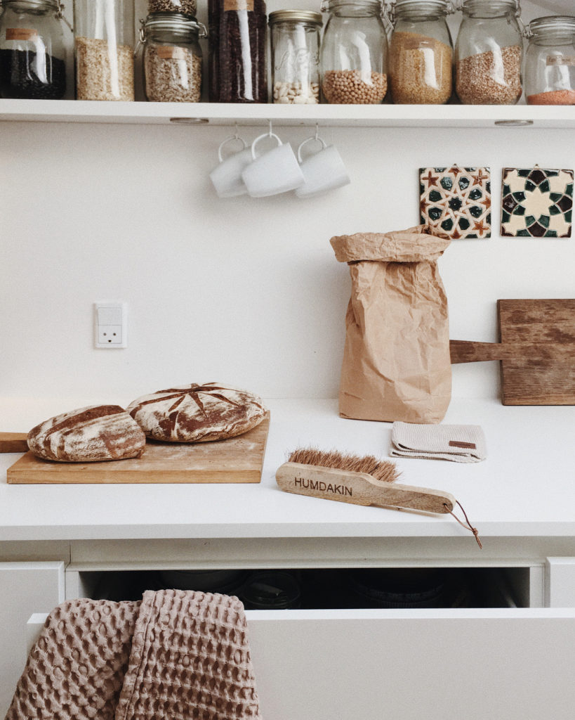 kitchen details and open shelving