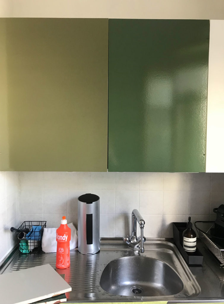 painting the kitchen cabinets