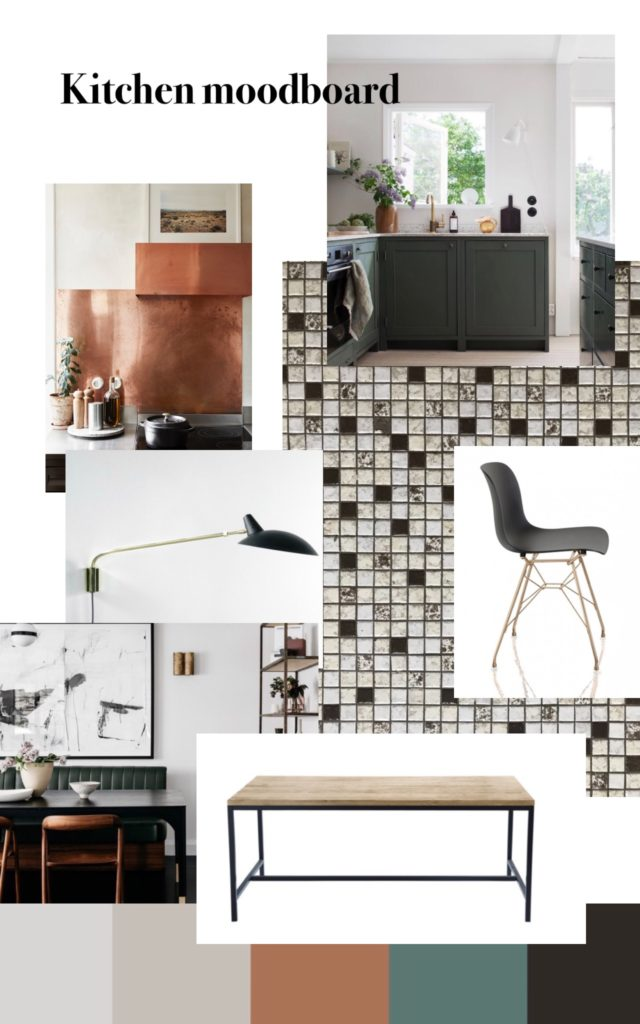 the moodboard for the kitchen remodel