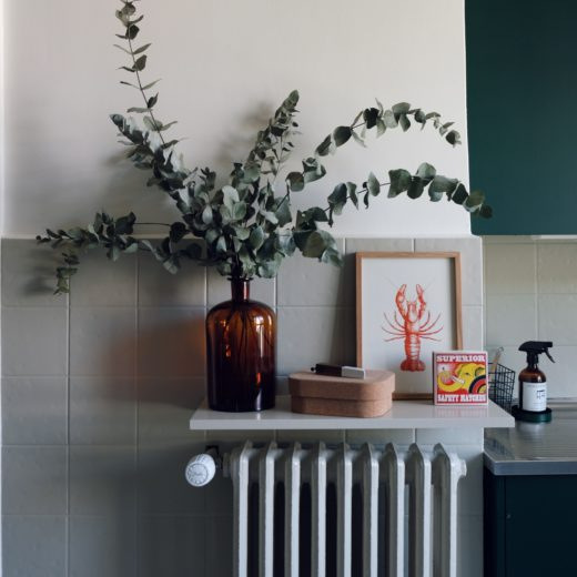 styling radiators by putting a shelve above