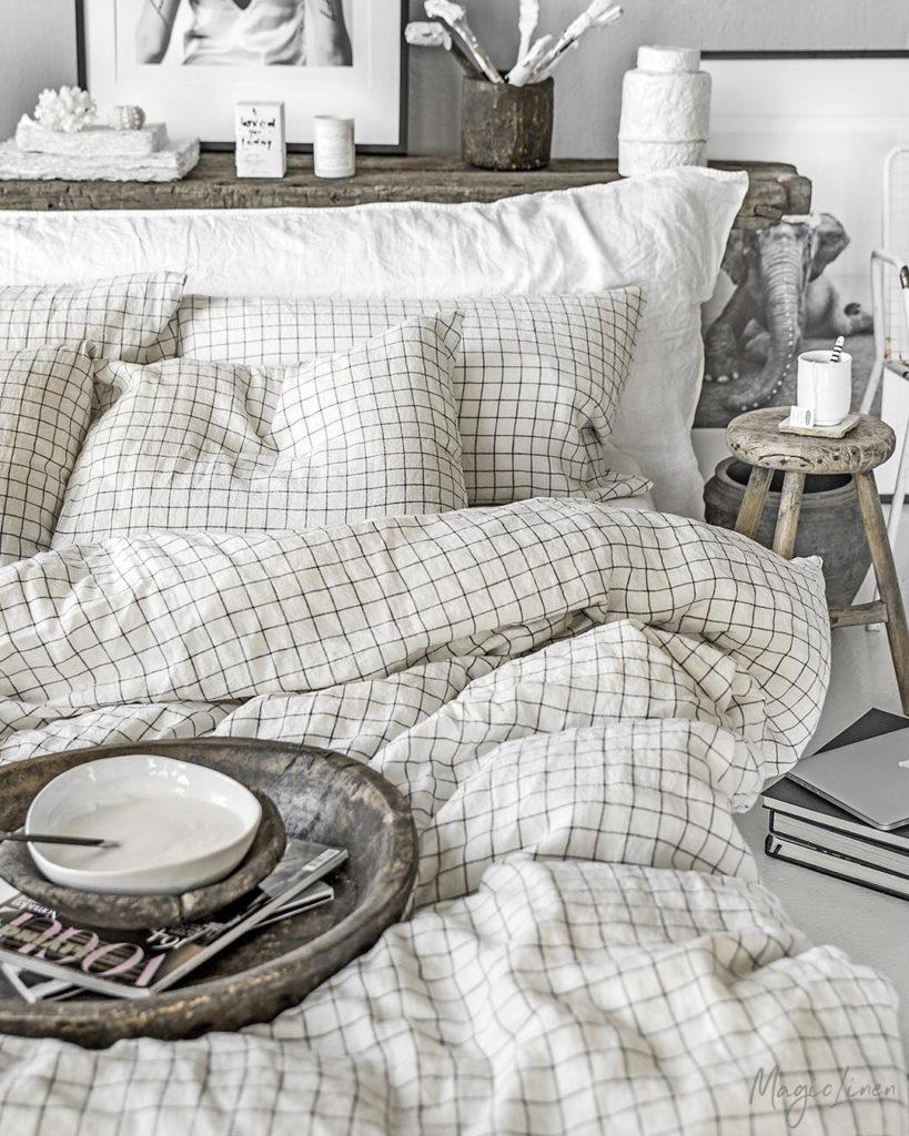linen sheets grid pattern from magic-linen