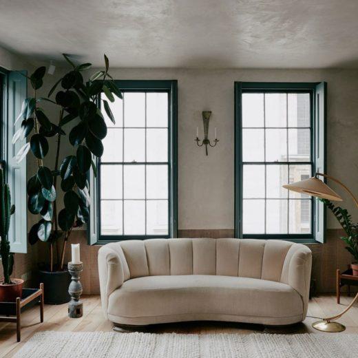 living room of wabi-sabi elegance