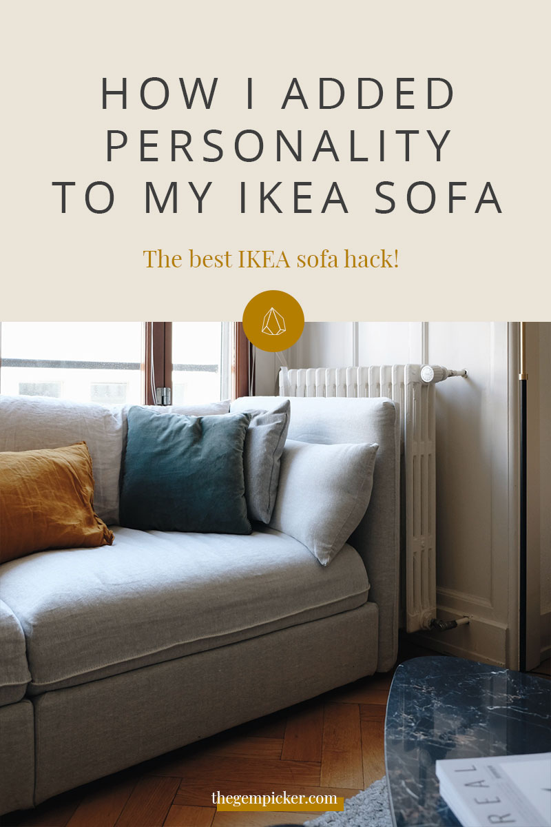 Is it possible to pimp a sofa? Well, it depends, does it come from IKEA? Because I found the best IKEA sofa hack. Plus, no handyman skills required, read on