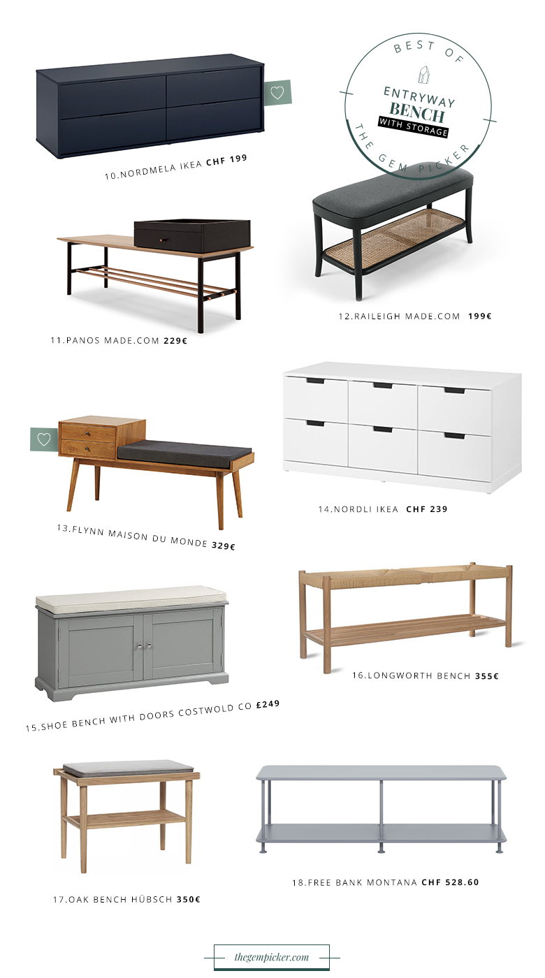 How to choose and what to look for when shopping for entryway benches. Find out the best tips and the best selection of benches with or without storage.