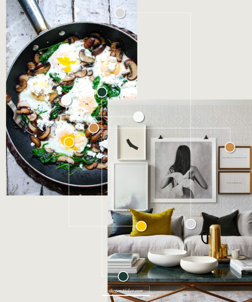 Finding the right color palette for your interior from a picture you like